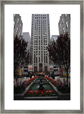 At The Rockefeller Center Framed Print by Christiane Schulze Art And Photography