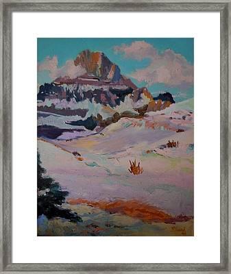 At The Top - Glacier National Park Framed Print by Francine Frank