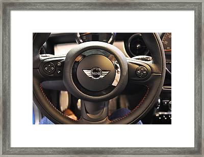 At The Wheel Of The Mini Framed Print by Ronda Broatch