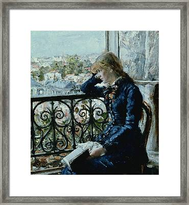 At The Window Framed Print by Hans Olaf Heyerdahl