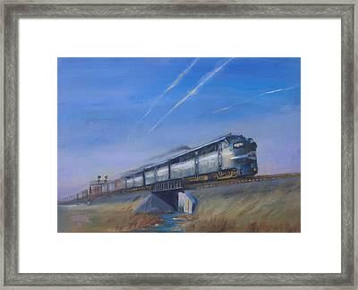 At Track Speed Framed Print by Christopher Jenkins
