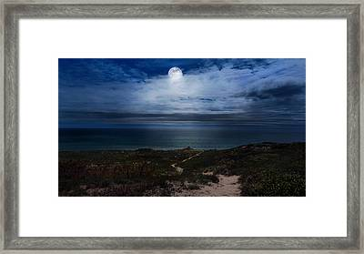 Atlantic Moon Framed Print by Bill Wakeley