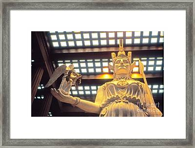 Athena And Nike Sculpture Framed Print by Jerry Grissom