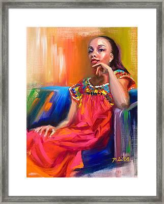 Athena Framed Print by Talya Johnson