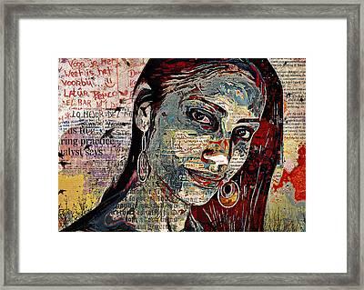 Athene Framed Print by Gustav Boye
