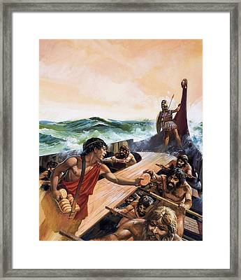 Athenian Trireme Framed Print by Andrew Howat