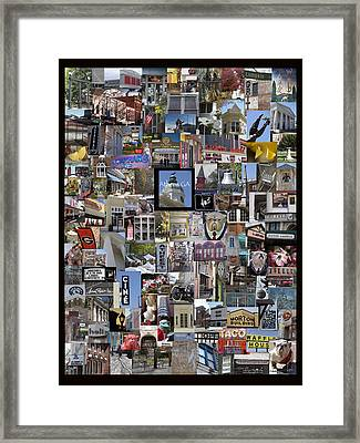 Athens Collage Framed Print by Sally Ross