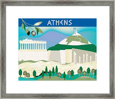 Athens Framed Print by Karen Young