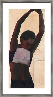 Athlete Framed Print by Graham Dean