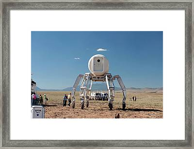 Athlete Lunar Rover Testing Framed Print by Nasa-johnson Space Center