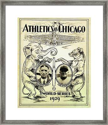 Athletics Vs Chicago 1929 World Series Framed Print by Digital Reproductions