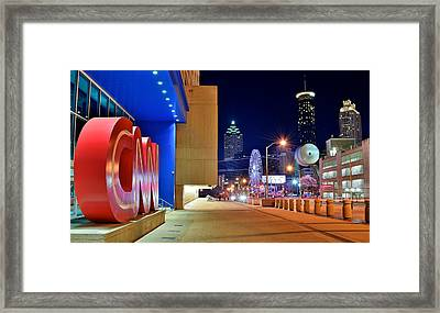 Atlanta Outside Cnn Framed Print by Frozen in Time Fine Art Photography