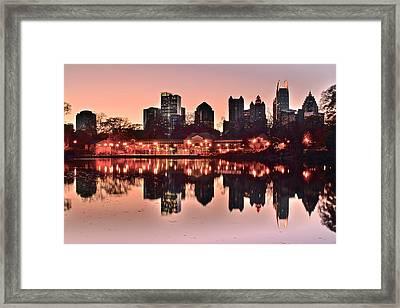 Atlanta Piedmont Pink Framed Print by Frozen in Time Fine Art Photography