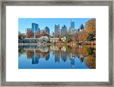 Atlanta Reflected Framed Print by Frozen in Time Fine Art Photography