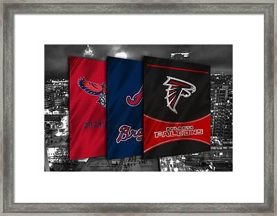 Atlanta Sports Teams Framed Print by Joe Hamilton