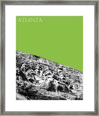 Atlanta Stone Mountain Georgia - Apple Green Framed Print by DB Artist