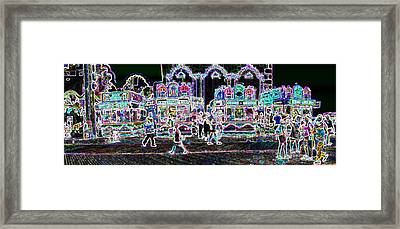 Atlantic City Neon Framed Print by David Schneider