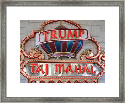 Atlantic City - Trump Taj Mahal Casino - 12121 Framed Print by DC Photographer