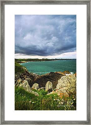 Atlantic Coastline In Brittany Framed Print by Elena Elisseeva