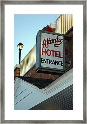 Atlantic Hotel Framed Print by Skip Willits