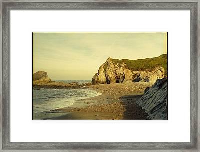 Atlantic Seascape Asturias Spain Framed Print by Juan  Bosco
