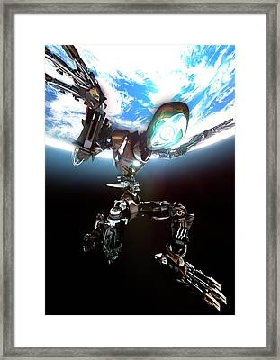 Atlas Robot Framed Print by Animate4.com/science Photo Libary