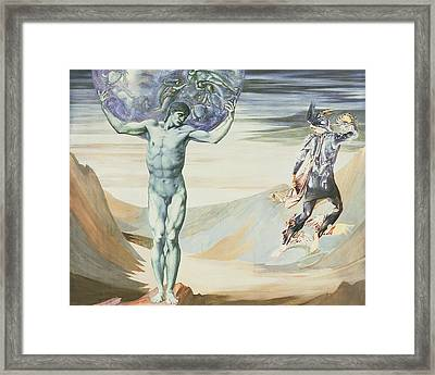 Atlas Turned To Stone, C.1876 Framed Print by Sir Edward Coley Burne-Jones