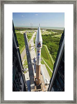 Atlas V Rocket On Launch Pad Framed Print by National Reconnaissance Office