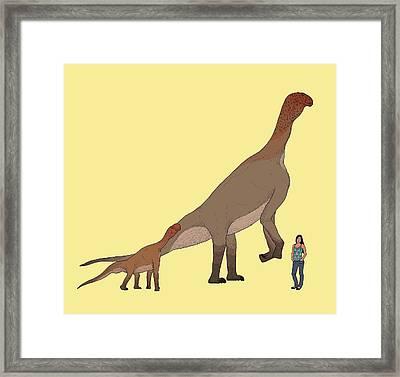 Atlasaurus Dinosaur Framed Print by Nemo Ramjet