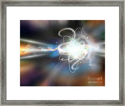 Atom Collision Framed Print by Mike Agliolo