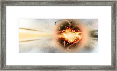 Atom Collision Framed Print by Panoramic Images