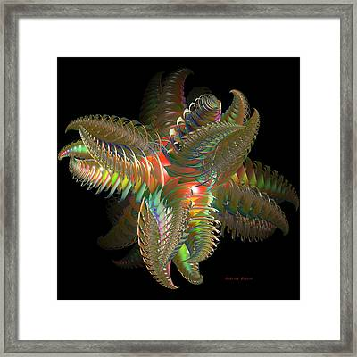 Atom Of Color Framed Print by Deborah Benoit