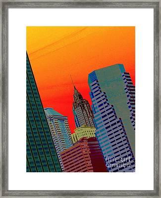 Atomic Skyline Framed Print by Andy Heavens