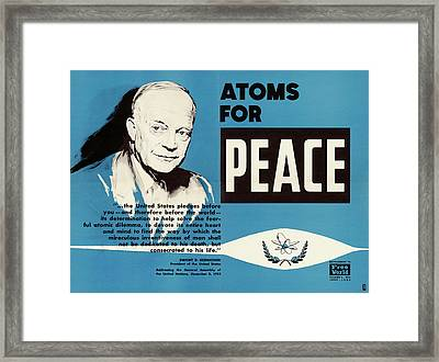Atoms For Peace Speech Framed Print by Us National Archives