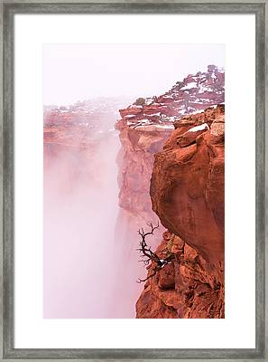 Atop Canyonlands Framed Print by Chad Dutson
