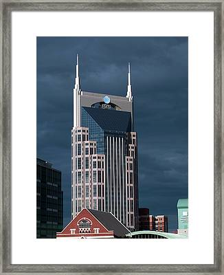 At&t Building Framed Print by Carol M. Highsmith Archive, Library Of Congress
