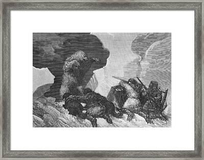 Attack Framed Print by Julius Prayer