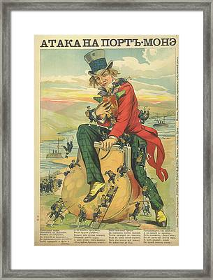 Attack Of Port Mone Framed Print by British Library