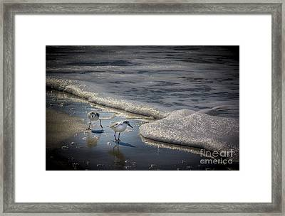 Attack Of The Sea Foam Framed Print by Marvin Spates