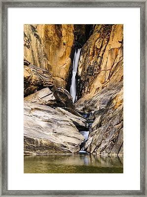 Attagar Falls In Western Ghats Framed Print by Vishwanath Bhat