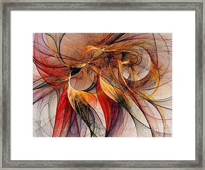 Attempt To Escape-abstract Art Framed Print by Karin Kuhlmann