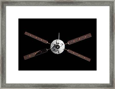 Atv Albert Einstein Approaching The Iss Framed Print by European Space Agency/nasa