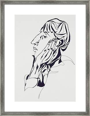 Aubrey Beardsley Framed Print by Stevie Taylor