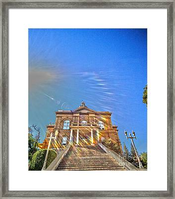 Auburn Courthouse 2 Framed Print by Cheryl Young