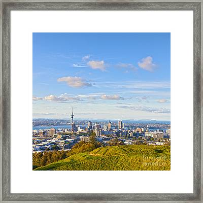 Auckland From Mount Eden Framed Print by Colin and Linda McKie