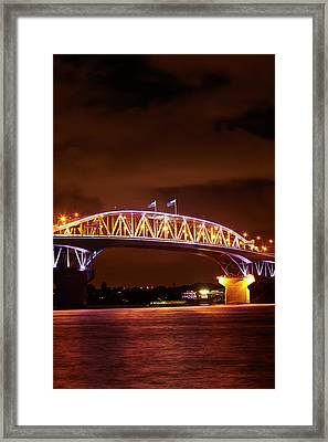 Auckland Harbour Bridge And Waitemata Framed Print by David Wall