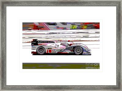 Audi R18 E-tron Bordered Framed Print by Pixelated Foto