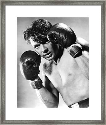 Audie Murphy In World In My Corner  Framed Print by Silver Screen