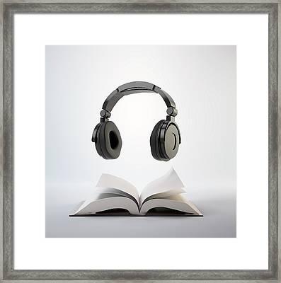 Audio Book Framed Print by Andrzej Wojcicki