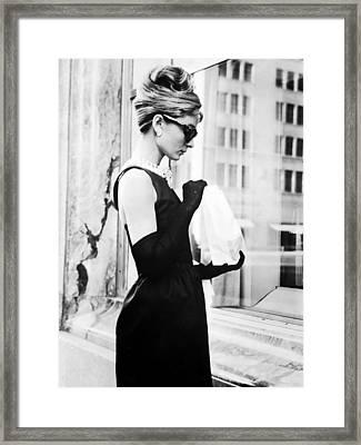 Audrey At Tiffanys Framed Print by Georgia Fowler